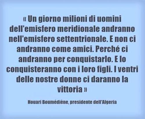 Oriana Fallaci immigrazione discorso di Boumedienne